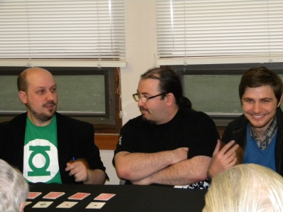 It's a great feeling to believe in magic again. This is me being completely fooled by two of the greatest card magicians in the world, Dani DaOrtiz and Woody Aragón.